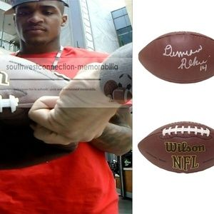 Demarcus Robinson KC Chiefs Signed NFL Football